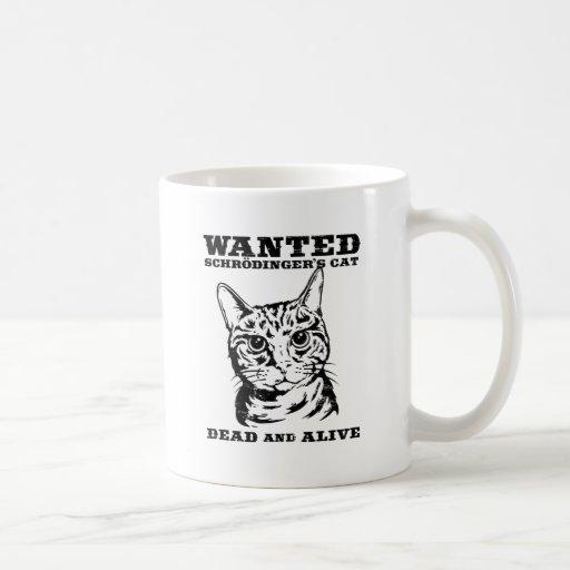 El gato de Schrodinger quiso a muertos o vivo Taza De Café