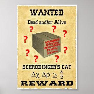 El gato de Schrodinger quiso el poster