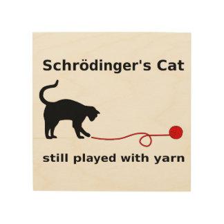 El gato de Schrödinger todavía jugado con hilado Cuadro De Madera