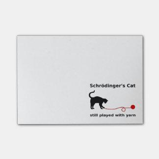 El gato de Schrödinger todavía jugado con hilado Nota Post-it®