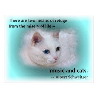 El gato de Schweitzer Tarjetas Postales