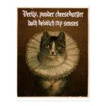 El gato de Shakespeare Tarjeta Postal
