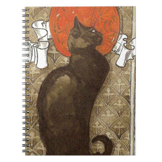 El gato de Steinlein - arte Nouveau Libros De Apuntes Con Espiral