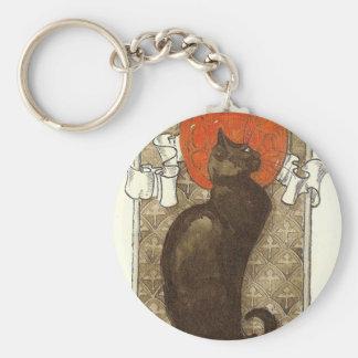 El gato de Steinlein - arte Nouveau Llavero