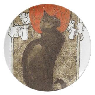 El gato de Steinlein - arte Nouveau Plato De Comida