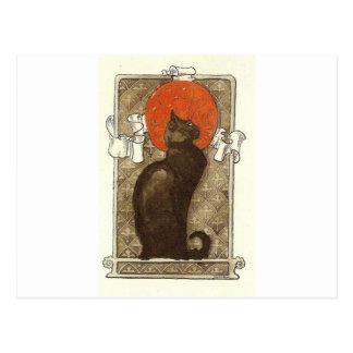 El gato de Steinlein - arte Nouveau Tarjetas Postales