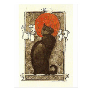 El gato de Steinlein - arte Nouveau Postal