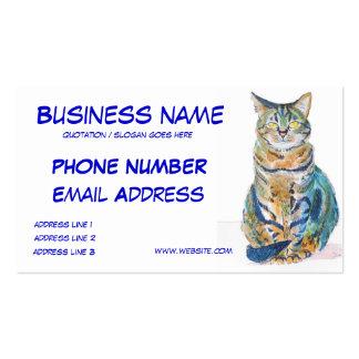 El gato de Tabby lindo personaliza tarjetas de vis Tarjetas De Visita