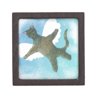 El gato de vuelo cajas de joyas de calidad
