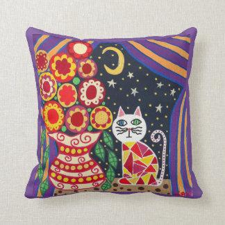 El gato del arte de la almohada de Kerri Ambrosino Cojín Decorativo