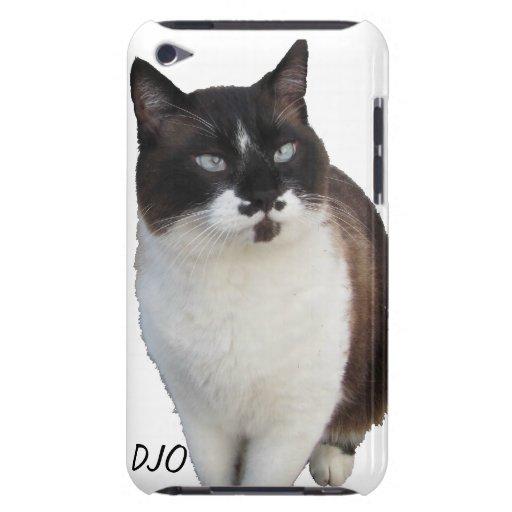 El gato del bigote protege su teléfono iPod touch Case-Mate fundas