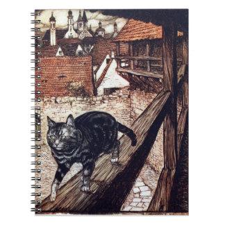 El gato del castillo por Rackham Libro De Apuntes Con Espiral