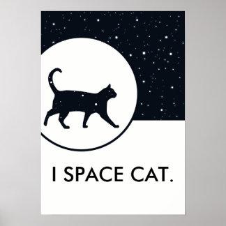 El gato del espacio protagoniza el texto poster