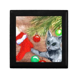 El gato del gatito es él navidad con todo diversió cajas de regalo