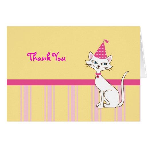 El gato del gatito le agradece cardar tarjeta pequeña