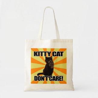El gato del gatito no cuida bolsa de mano