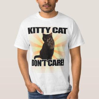 El gato del gatito no cuida el animal divertido playera