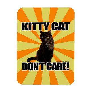 El gato del gatito no cuida iman rectangular