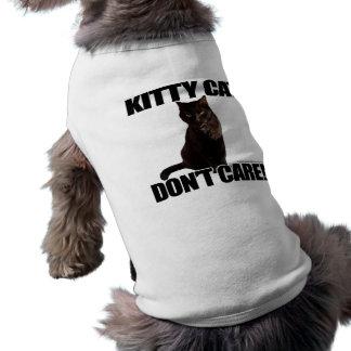 El gato del gatito no cuida playera sin mangas para perro