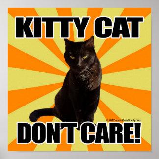 El gato del gatito no cuida póster
