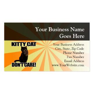 El gato del gatito no cuida tarjetas de visita
