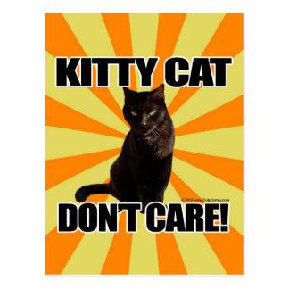 El gato del gatito no cuida postal
