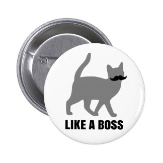 El gato del inconformista tiene gusto de un jefe pin redondo de 2 pulgadas