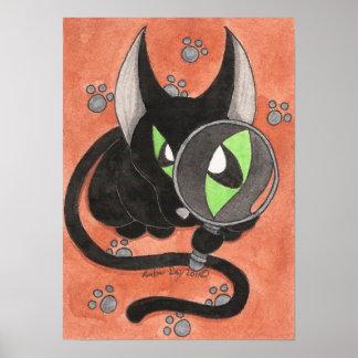 El gato del ónix 'algo es Afoot Póster