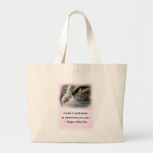 El gato del Poe Bolsa Tela Grande