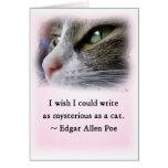 El gato del Poe Tarjeta
