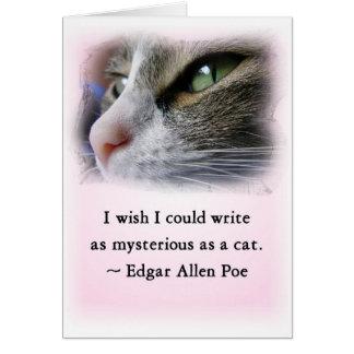 El gato del Poe Tarjeta De Felicitación