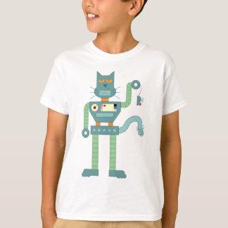 El gato del robot y enrolla para arriba el ratón polera