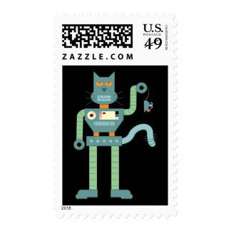 El gato del robot y enrolla para arriba el ratón envio