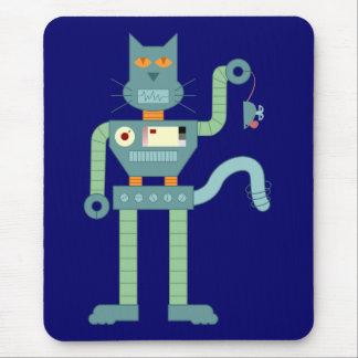 El gato del robot y enrolla para arriba el ratón tapetes de ratón