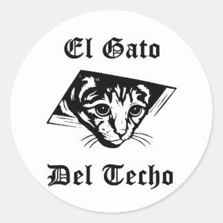 El Gato Del Techo Classic Round Sticker