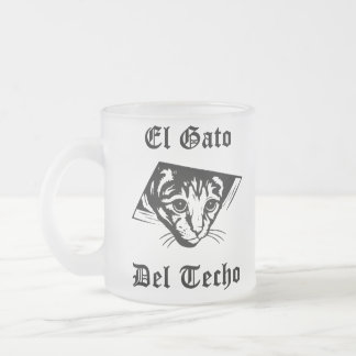 El Gato Del Techo Frosted Glass Coffee Mug