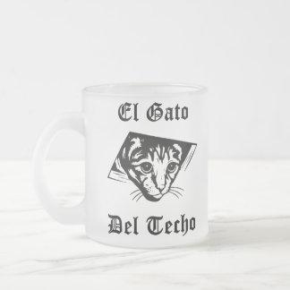 El Gato Del Techo Frosted Glass Coffee Mug