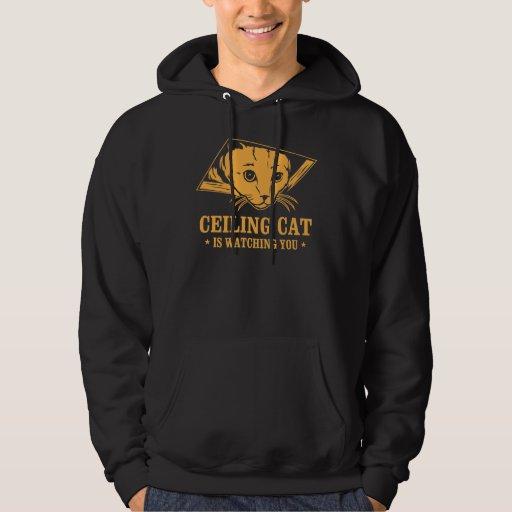 El gato del techo le está mirando sudadera pullover