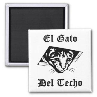 El Gato Del Techo 2 Inch Square Magnet