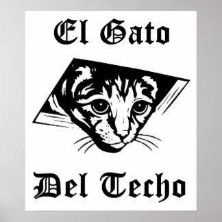 El Gato Del Techo Póster