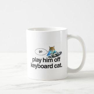 el gato del teclado va taza