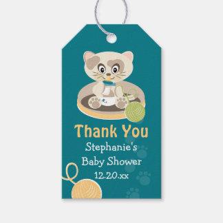 El gato del trullo en fiesta de bienvenida al bebé etiquetas para regalos