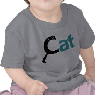 El gato deletrea el gato - camisa azul