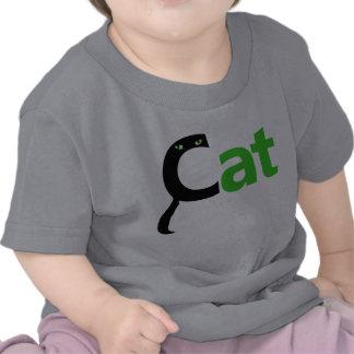 El gato deletrea el gato - camisa verde