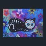 """El Gato Dia de los Muertos Canvas Print<br><div class=""""desc"""">pristineturkus.blogspot.com</div>"""