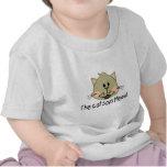 El gato dice maullido camisetas