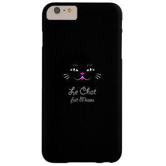 ¡El gato dice maullido!  Gato francés divertido Funda Para iPhone 6 Plus Barely There