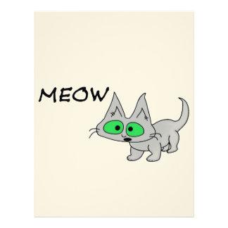 El gato dice maullido membretes personalizados