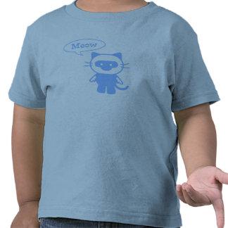 El gato dice maullido camiseta