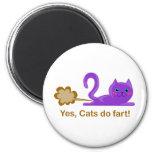 ¡El gato el Farting, gato farts! Imán Para Frigorífico